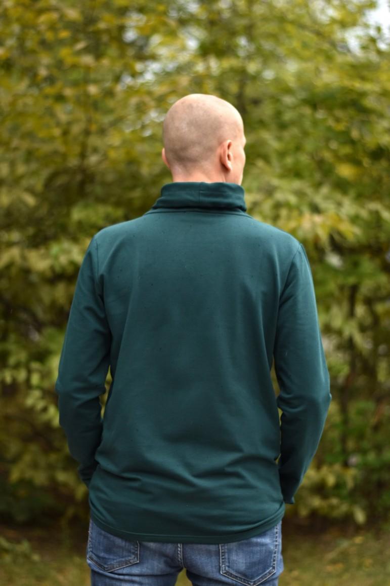 2copy of Męska bluza z kominem - zieleń