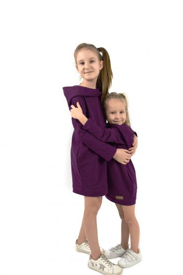 Zestaw takich samych tunik dla dziewczynek - Ekstrawagancki fiolet