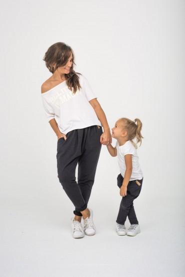 Zestaw spodni dla mamy i córki - Grafit