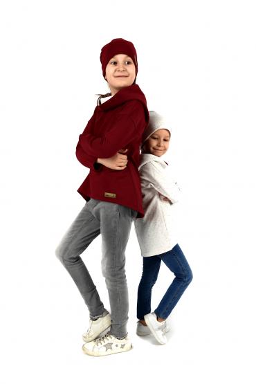 Komplet dla siostrzyczek - bluzy z przedłużonym tyłem
