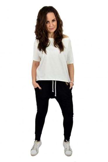 spodnie baggy czarne damskie wersja sportowa