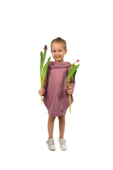 wiosenna tunika dla dziewczynki różowa