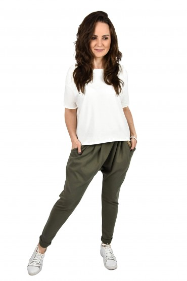 Woman baggy pants khaki