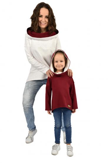 copy of Komplet bluz dla mamy i córki - ecru bordo