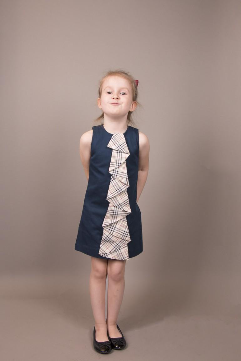 75a2cec291 Sukienka z żabotem