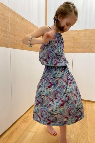 Sukienka letnia dla dziewczynki  - wzór Etno