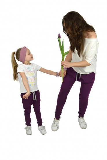 SPODNIE DLA MAMY I CÓRKI - Ekstrawagancki fiolet