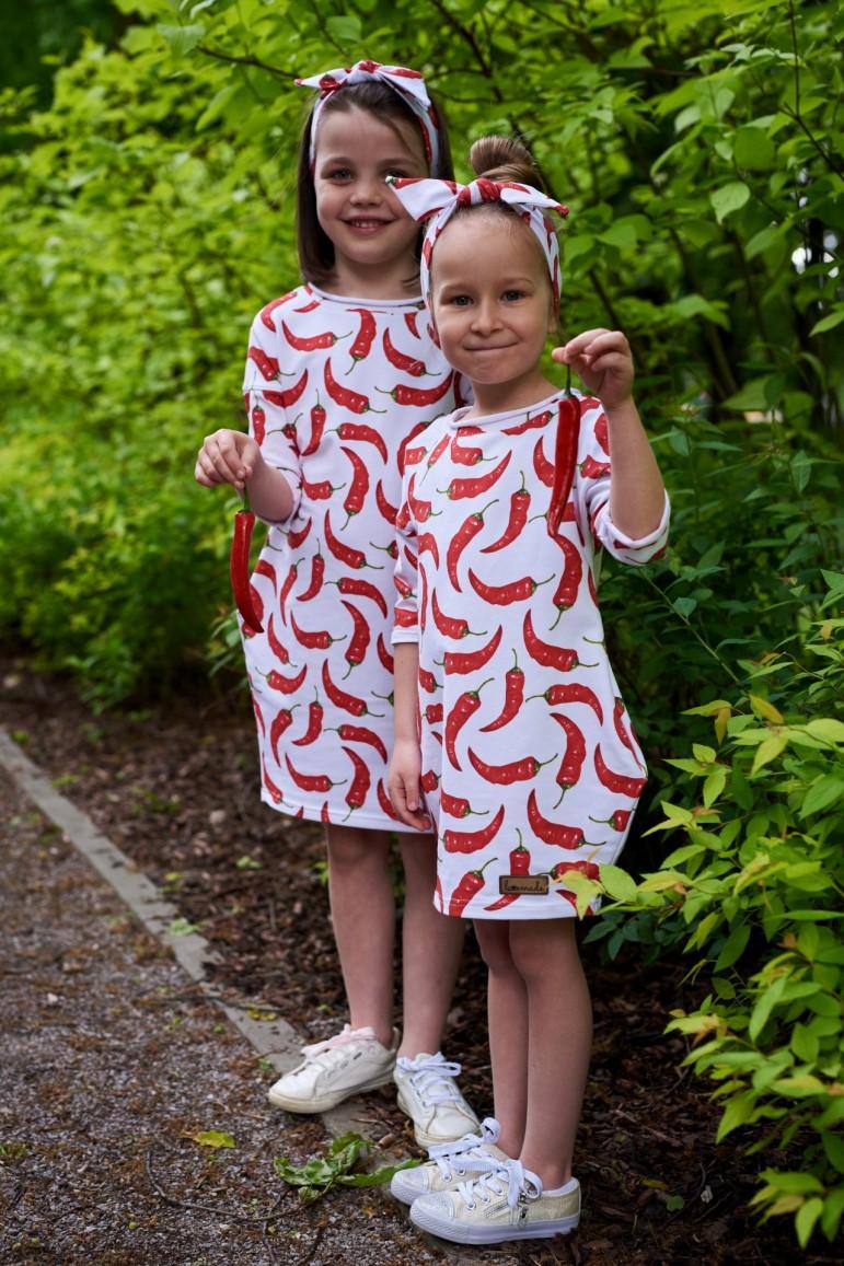 2copy of Komplet tunik dla siostrzyczek - Palmy