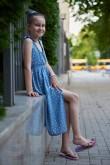 2copy of Letnia sukienka dla dziewczynki z wiązanymi ramiączkami - berriers