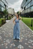 2copy of Sukienka maxi z wiązanymi ramiączkami - Berries