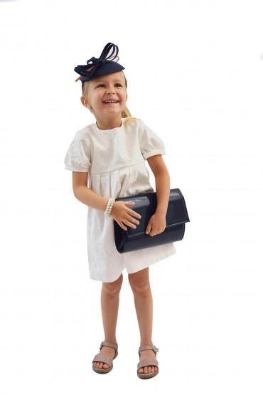 Królewska Perełka Ecru - elegancka sukienka dla dziewczynki