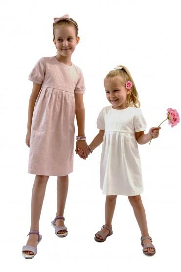 Zestaw takich samych sukienek dla siostrzyczek - Królewska Perła
