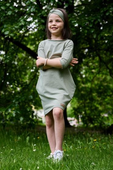 Sukienka dla dziewczynki na dzień kropki