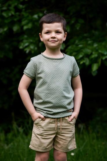 Boy's  T shirt  -  PISTACHIO DOTS