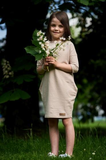 sukienka dla dziewczynki w kropki
