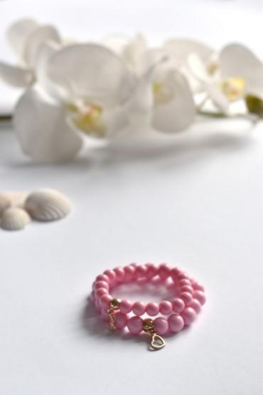 bransoletki miłości dla mamy i córki - z zawieszką serca