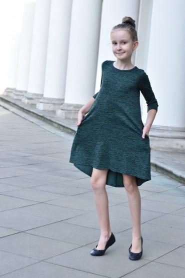 Sukienka dla dziewczynki zielona