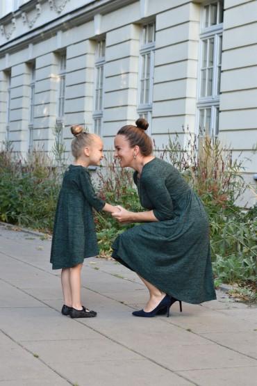 mama i córka - zielone sukienki