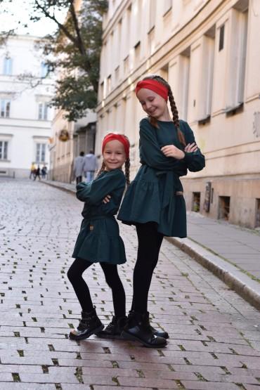 Takie same sukienki dla siostrzyczek, różna rozmiary