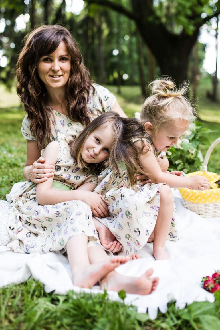 2Komplet mama i córka sówki