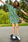 2Dresowa sukienka typu tunika z kieszeniami dla dziewczynki