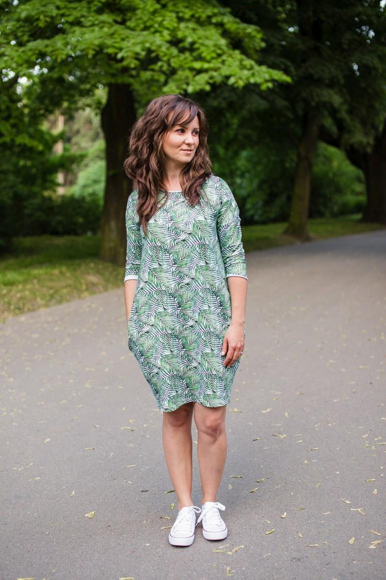 2Dresowa sukienka typu tunika z kieszeniami - Palma