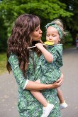 2Komplet dresowych sukienek typu tunika dla mamy i córki