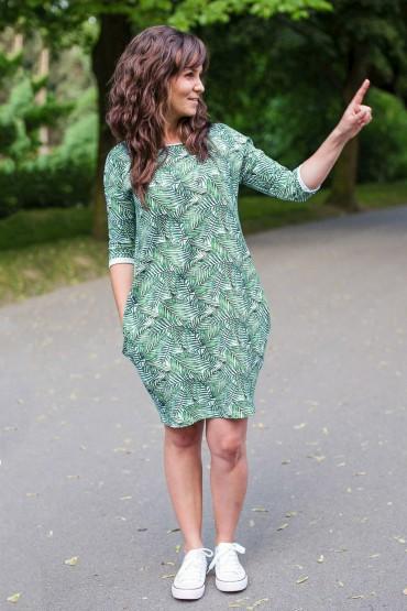 Dresowa sukienka typu tunika z kieszeniami - Palma