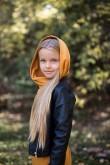 2Dresowa tunika z kapturem dla dziewczynki