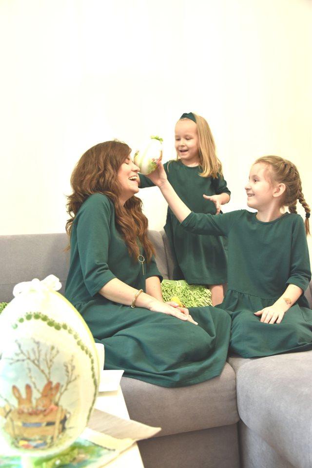 Święta pod tytułem – #zostańwdomu!Stylizacje dla mamy i córki na Wielkanoc tego roku!