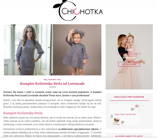 blog chichotka o Lovemade
